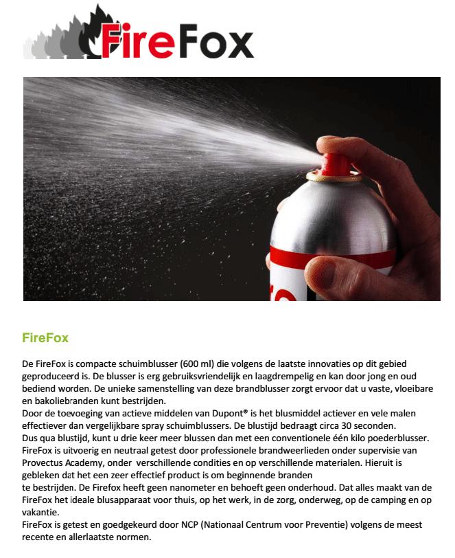 Firefox sprayblusser omschrijving