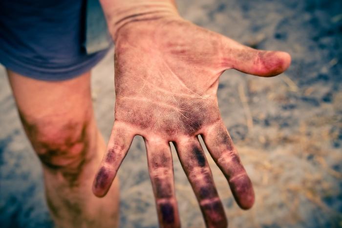 Hoe ontsmet ik mijn handen?