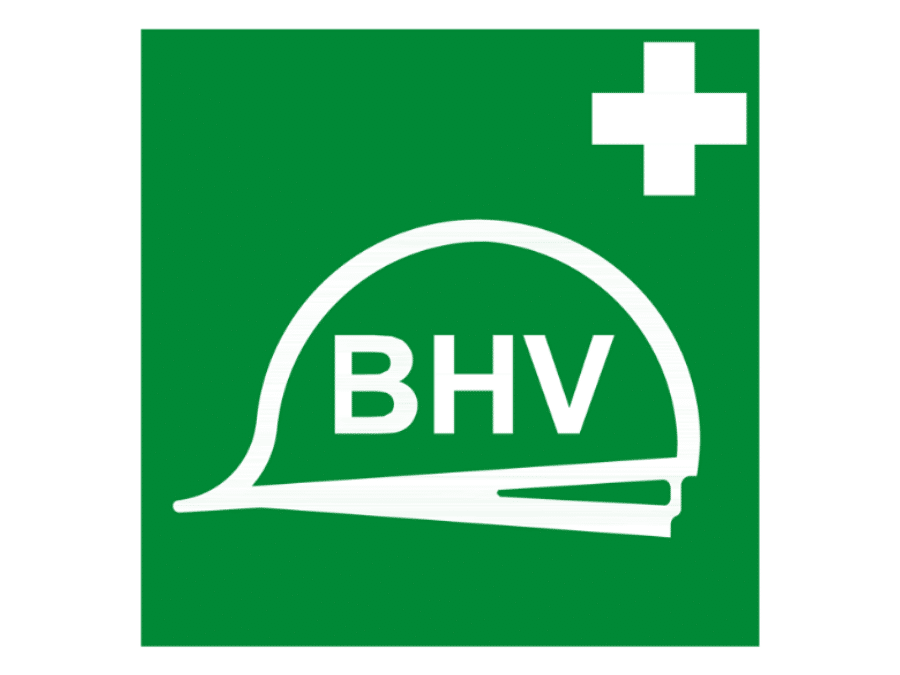 Pictogram bord BHV 200 x 200 mm