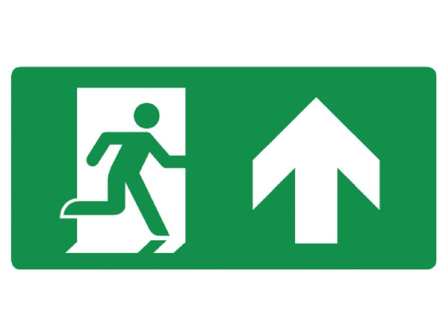 Pictogram bord nooduitgang