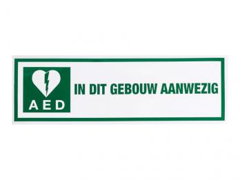 Pictogram sticker AED aanwezig (1)