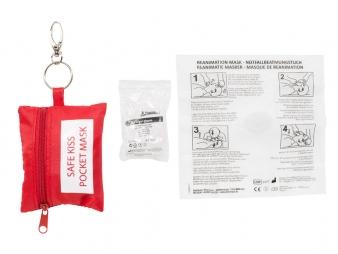 Sleutelhanger Safe Kiss + latex handschoenen
