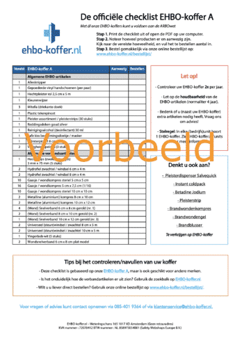 Voorbeeld Checklist